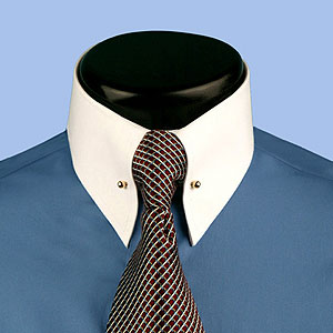 Mens Wide Collar Dress Shirts