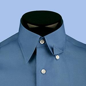 Gary tailor men 39 s custom tailored shirts for Hidden button down collar shirts
